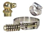394, 395, 396 Hose Clamps, Grease Fittings
